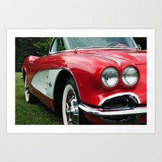 Red Corvette Art Print