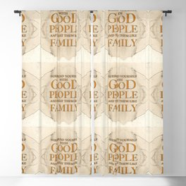 GOOD PEOPLE Blackout Curtain