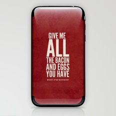 Bacon and Eggs - Ron Swanson - Parks and Recreation iPhone & iPod Skin