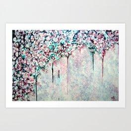 Meet you in the garden Art Print