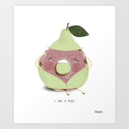Pear Donut Art Print