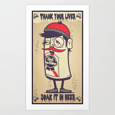 Thank Your Liver Art Print
