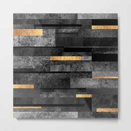 Urban Black & Gold Metal Print