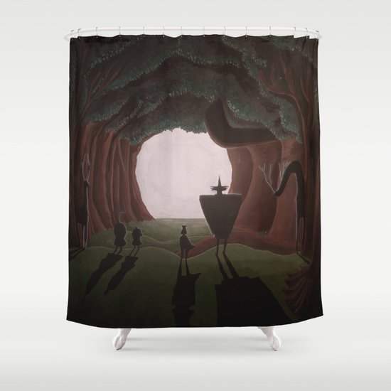 Tunnel in the end of the light. Shower Curtain