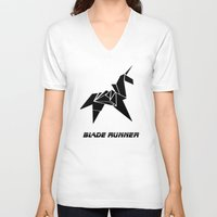 blade runner V-neck T-shirts featuring Blade Runner - Rachel's Origami by Thecansone