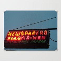 Vintage Neon Newstand Sign ~ Chicago Architecture Canvas Print