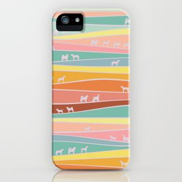 over the hills we go iPhone Case