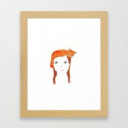 Cat head Framed Art Print
