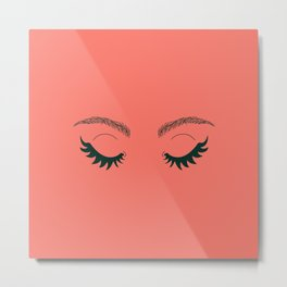 Betty Gone Batty (Forest Green on Coral Edition) Metal Print