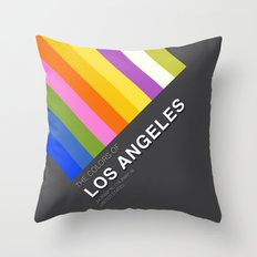 Colors of Los Angeles Throw Pillow