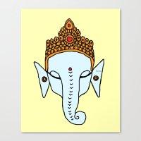 ganesha Canvas Prints featuring Ganesha by RaJess