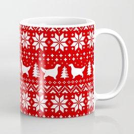 English Setter Silhouettes Christmas Sweater Pattern Coffee Mug