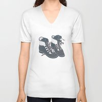 heels V-neck T-shirts featuring Moray Heels by Jacqueline Pytyck