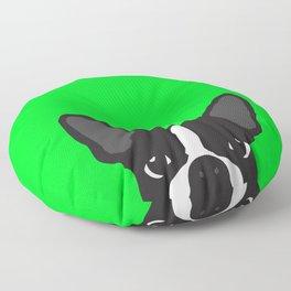 Boston Terrier Green Floor Pillow