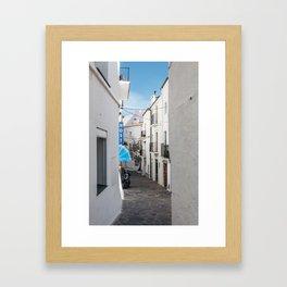 Hostel in Blue - Cadaques, Catalunya Framed Art Print