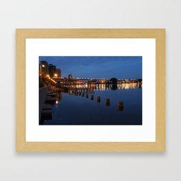 Night CityScape Framed Art Print