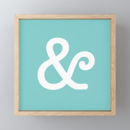 Ampersand Turquoise Framed Mini Art Print