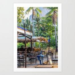 Thailand Tiki Bar Art Print
