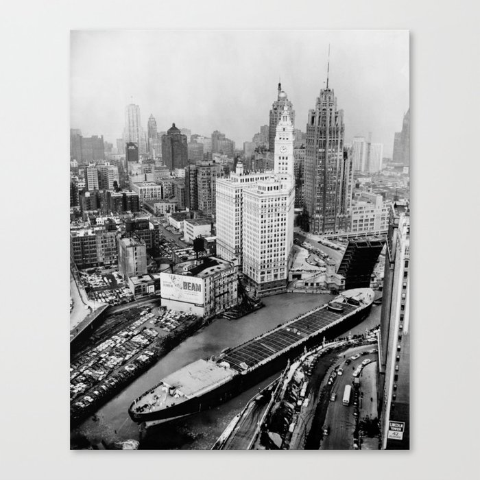 Largest travel Chicago River Chicago Illinois Canvas Print