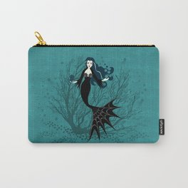 Vampire Mermaid on Aqua Carry-All Pouch