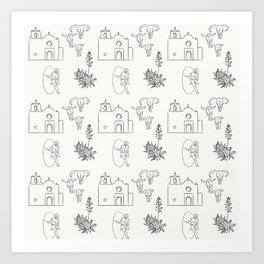 Dwellings of Goliad Art Print