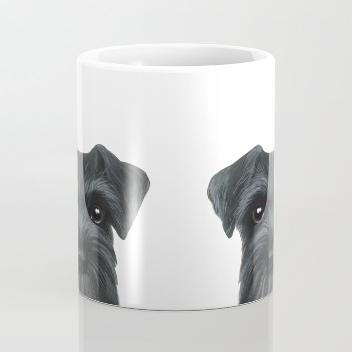 New Black Schnauzer, Dog illustration original painting print Coffee Mug