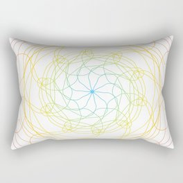 Pansexual Pride Spirograph Rectangular Pillow