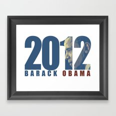 2012 barack Obama Framed Art Print