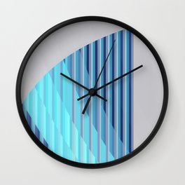 Resonance (blue-aqua) Wall Clock