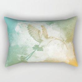 Colorful little bird Rectangular Pillow