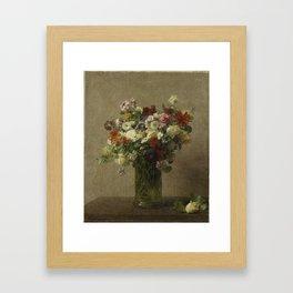 Flowers from Normandy by Henri Fantin-Latour Framed Art Print