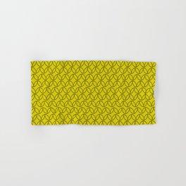 Lime Green Pattern. Hand & Bath Towel