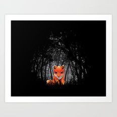 Vulpes Vulpes  at  Night Art Print