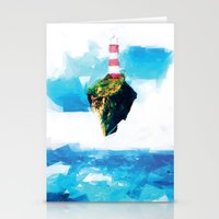 gorillaz Stationery Cards featuring Lighthouse by Vadim Cherniy
