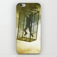 cage iPhone & iPod Skins featuring Cage by Azure Cricket