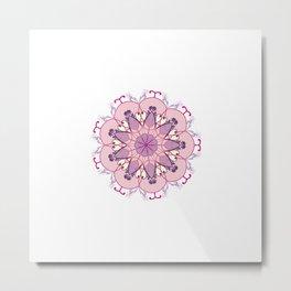 Pink and Purple Mandala Metal Print