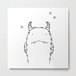 Yeti Illustration Metal Print