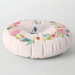 great dane dog floral wreath dog gifts pet portraits Floor Pillow