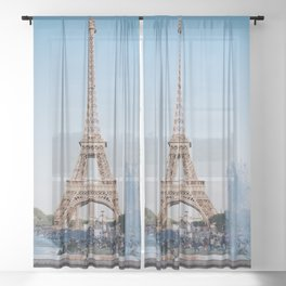 Eiffel Tower Sheer Curtain