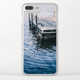 Lake Indigo Clear iPhone Case