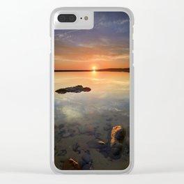 """Sun at the beach"" Clear iPhone Case"