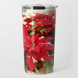 Shimmer Surprise Poinsettias Travel Mug