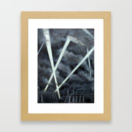 The Zeppelin Menace Framed Art Print