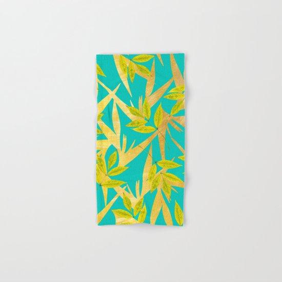 Gold & Teal Florals #society6 #decor #buyart Hand & Bath Towel
