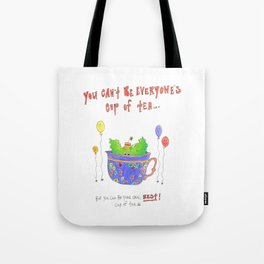 Little Monsters : Cup Of Tea Tote Bag