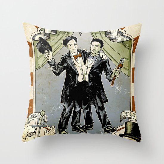 Conjoined in the Morning Throw Pillow