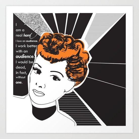 Retro Illustration of Lucille Ball Art Print