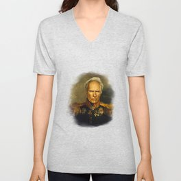 Clint Eastwood - replaceface Unisex V-Neck