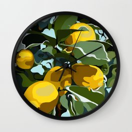 Lemon Branch Wall Clock