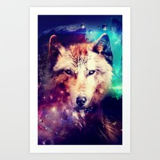 Space Wolf - for iphone Art Print